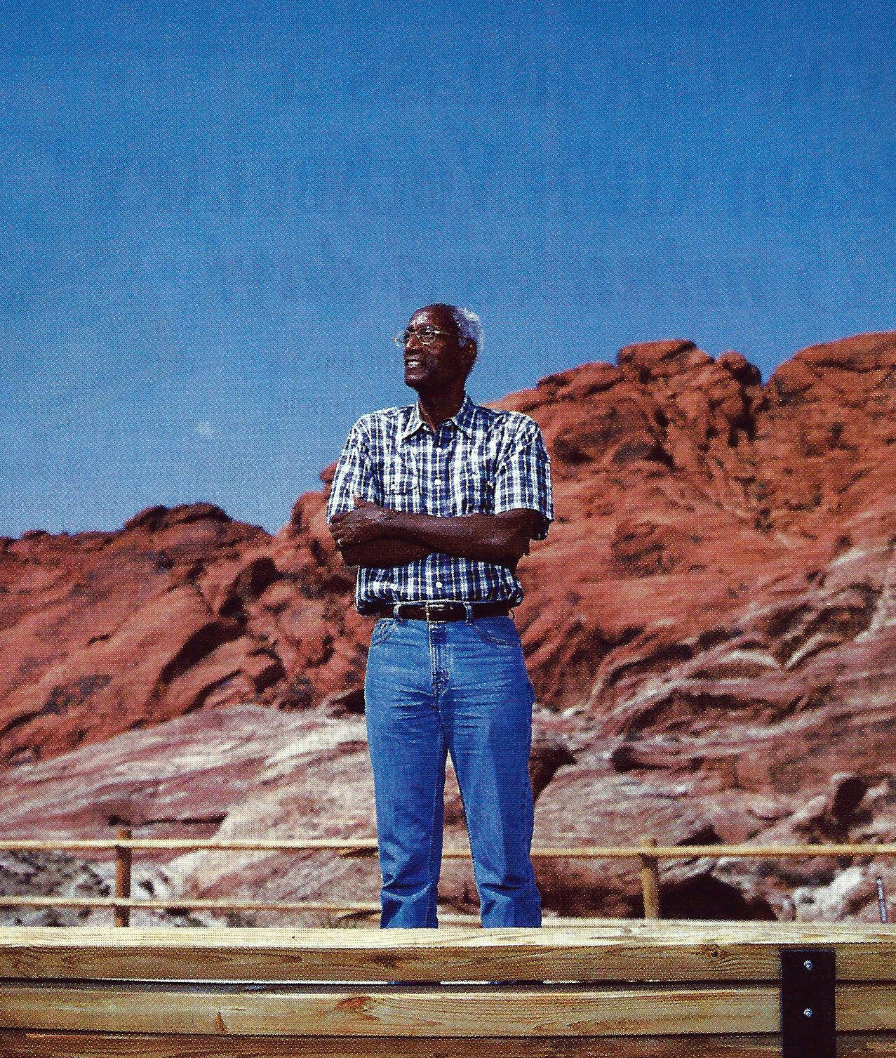 Wiley Brooks, Breatharian With Dessert Rocks In Background